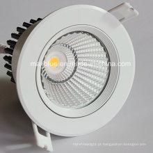 15W Epistar COB LED teto Downlight buraco 92 milímetros