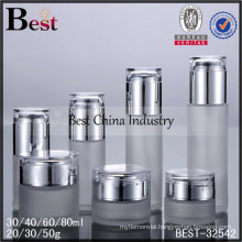 50g round glass jar and bottle, 30ml, 40ml, logo printed, one free sample, small order