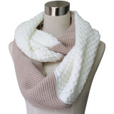 Lady Fashion Acrylic Cashmere Knitted Infinity Scarf (YKY4186)