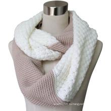 Леди мода акриловые кашемир Пашмины трикотажные бесконечности шарф (YKY4186)