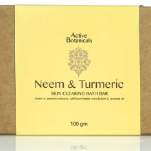 Handmade Organic Turmeric & Neem Bath Cleansing Acne-Prone Soap Bar