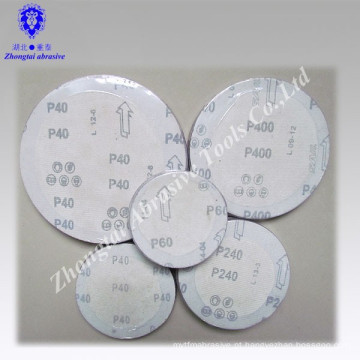 Disco de lixamento abrasivo de óxido de alumínio com gancho e laço