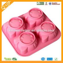 Moldes de silicone para gelatina de bolo de chocolate