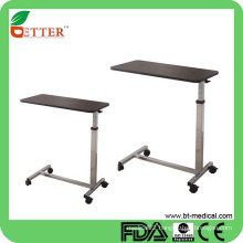 rolling bed table with castors
