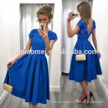 Vestido de la mujer del color sólido de la venta caliente 2017 de Aliexpress Ebay Vestido de las mujeres atractivas de costura con diseño sin respaldo