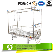 Fonctions manuelles de la manivelle trois de lit d'hôpital de traction orthopédique deux
