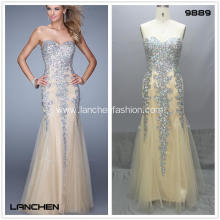 Mesh Long Evening Prom Cocktail Dress