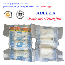 Abella Magic Tape Cloth Like Backflim High Quality Absorbtion Disposable Baby Diaper