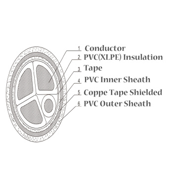 Copper Shielded Armoured PVC Electrical Power Cables