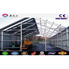 Cubierta prefabricada / cobertizo de estructura de acero (JW-16301)