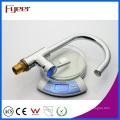 Robinet de cuisine Fyeer en laiton évier LED, puissance par pression d'eau, pas de robinet de mélangeur d'eau de batterie Bibcock