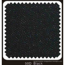 Black Color Woven Double DOT Fusible Interlining (50D black)