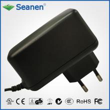 Adaptador de alimentação 12watt / 12W com Pin Europa / Pin UE para dispositivos móveis, Set-Top-Box, Impressora, ADSL, Audio & Video ou Eletrodomésticos