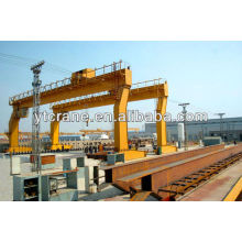 Single girder gantry crane with trolley used in yard 5-400ton