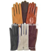 Frauen Großhandel Mode Kleid Farben Schaffell Leder Handschuhe mit Touchscreen