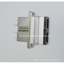 Adaptateur Sc-LC Duplex Métal Hybride Fibre Optique