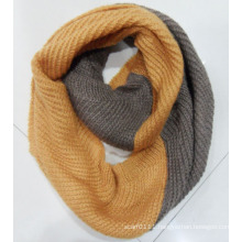 Lady Fashion Acrylic Mohair Knitted Winter Warm Infinity Scarf (YKY4183)