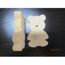 Éponge de cellulose en forme d'ours