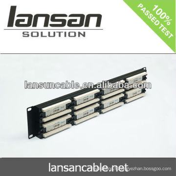Panneau de raccordement réseau 110 type de bloc de câblage avec Leg, gestionnaire de câble