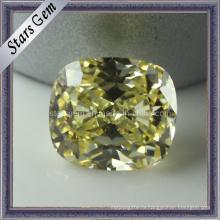 Оливковый желтый синтетический камень ювелирных бусин кубического циркония