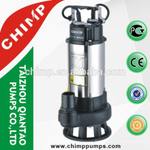 V1100 1.1KW submersible water pumps with cutting system with float switch