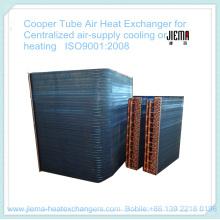Intercambiador de calor de aire de tubo de cobre para suministro centralizado de aire Refrigeración o calefacción