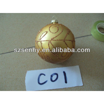 80mm wholesale hand blown colored glass balls