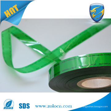 tamper evident security tape for security bag sealing