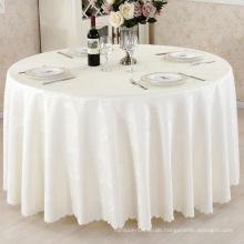 100% Polyester Restaurant Tischdecke Jacquard Tischdecke