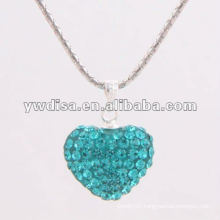 Beautiful Design Heart Shape Crystal Pendant For Valentine's Day