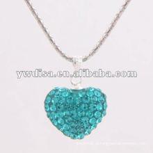 Belo design coração forma pingente de cristal para o dia dos namorados
