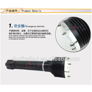 Leds lanternas design martelo de emergência XM-L2 cree bastão estendível