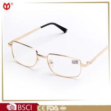 Gafas de lectura de metal con montura de montura de media o media llanta de alta calidad