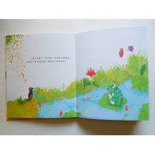 Excelente qualidade Full Color impressão Hard Board Coloring Book com Pen