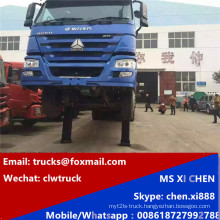 8X4 Rhd Steering 380HP Heavy Self Loading Low Bed Truck