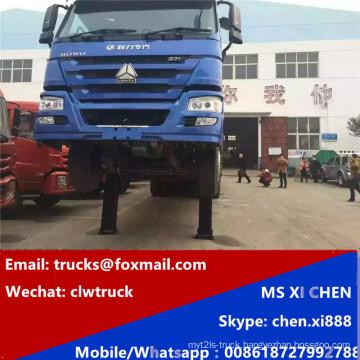 8X4 Rhd Steering 380HP Heavy Self Loading Low Bed Truck