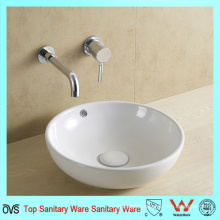 New Design Round White Ceramic Sanitary Ware Bathroom Sink
