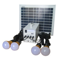 40W portable solar power system loading tv&fan