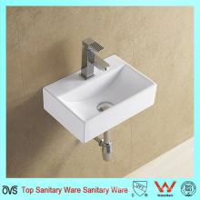 Cuarto de baño de pared lavabo de cerámica lavado hecho en China