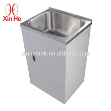 Stainless Steel SUS 304 Single Bowl Laundry Sink with Cabinet,30L,38L,45L