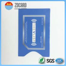 Papel de alumínio impresso papel RFID bloqueio cartão titular
