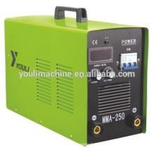 Portable three phase Inverter mma welding machine MMA-250, 380V