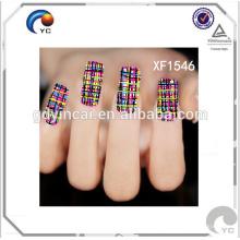 Hoja de pegatinas de uñas temporal personalizada de alta calidad