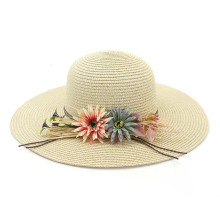 Sunflower custom design retro handy straw hat
