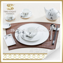 Unbreakable marbel ceramic dinnerware dinner set from Guangzhou