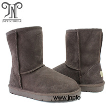 Women Classic Short Leather Sheepskin Fur Winter Boots