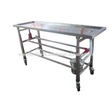 stainless Steel Mortuary Embalming Table
