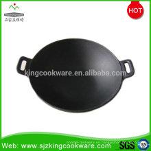 Cacerola de alta calidad del wok de los utensilios de cocina del arrabio del esmalte del hogar