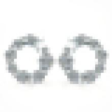 Brincos em forma de estrela de prata esterlina 925 elegante mulheres Zircon