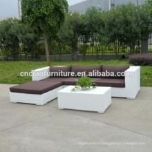 China Supplier New Design White Wicker Sofa Lounge Furniture